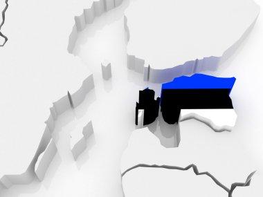 Map of Europe and Estonia.
