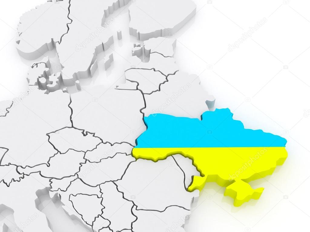 Ukraine On Map Of Europe.Map Of Europe And Ukraine Stock Photo C Tatiana53 45997447