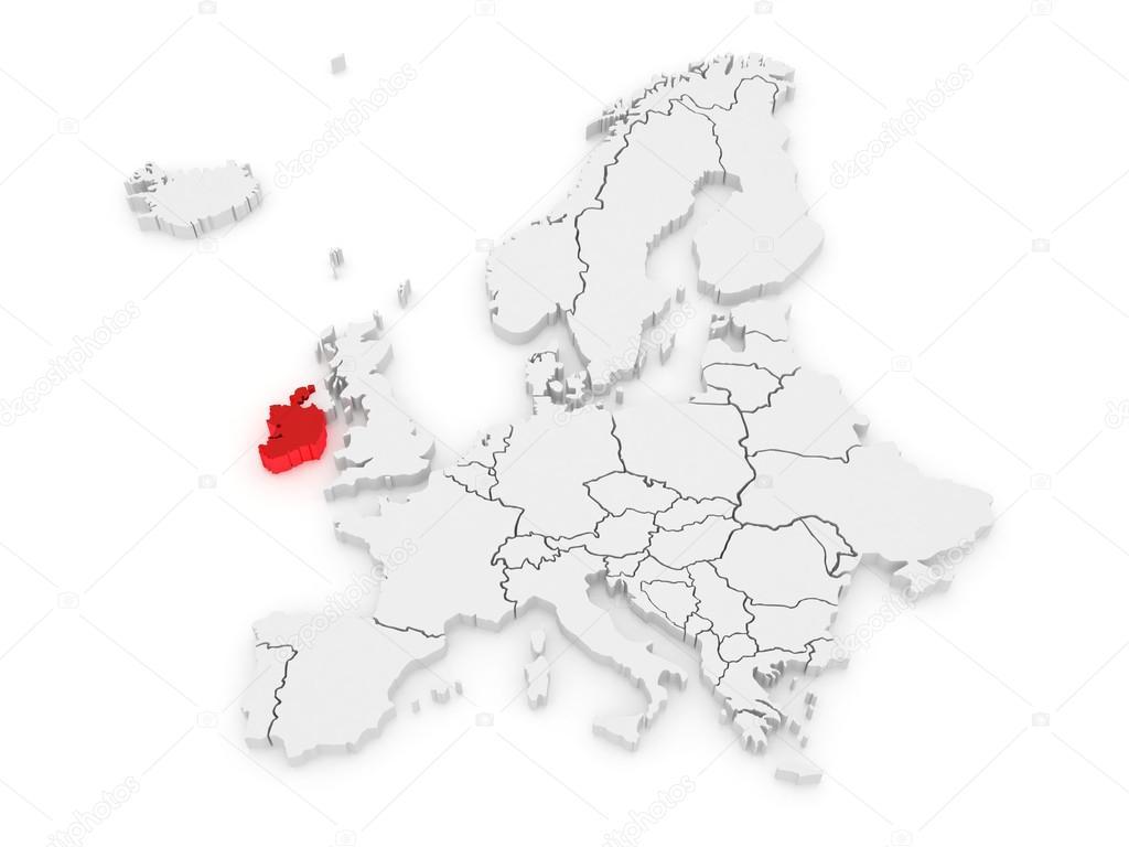 Irland Karte Europa.Karte Von Europa Und Irland Stockfoto Tatiana53 47074957