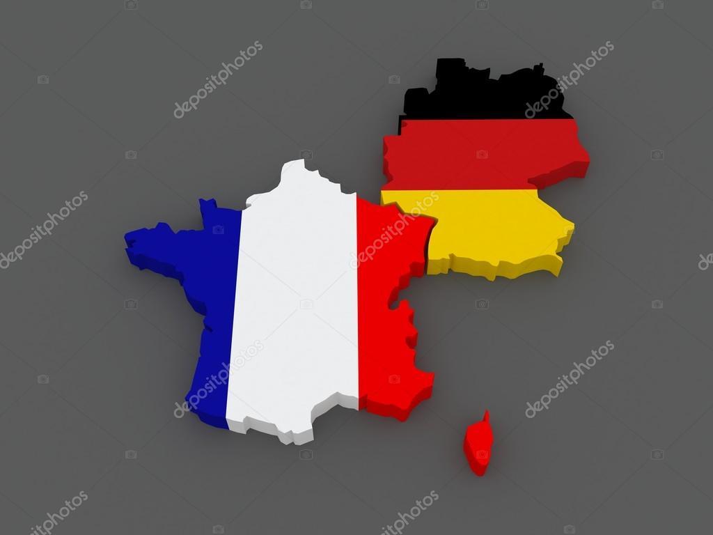 France et Allemagne. carte . — Photographie Tatiana53 © #47081225