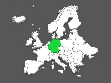 Map of Europe and Germany.