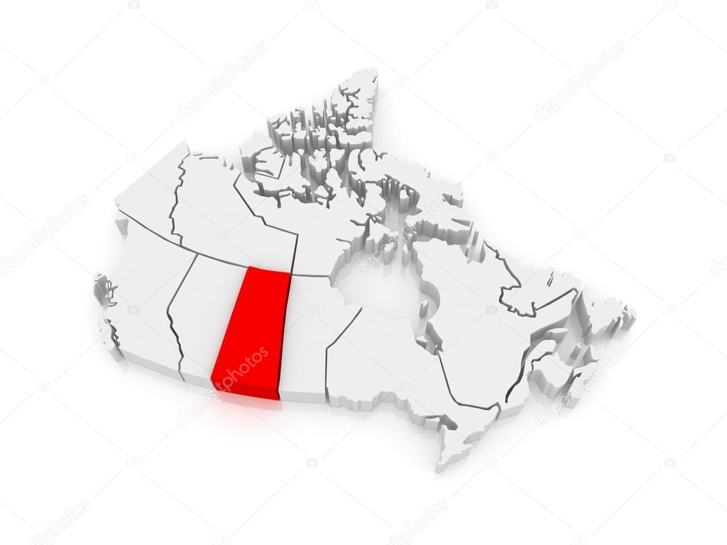Map of Saskatchewan. Canada. — Stock Photo © Tatiana53 #48635791
