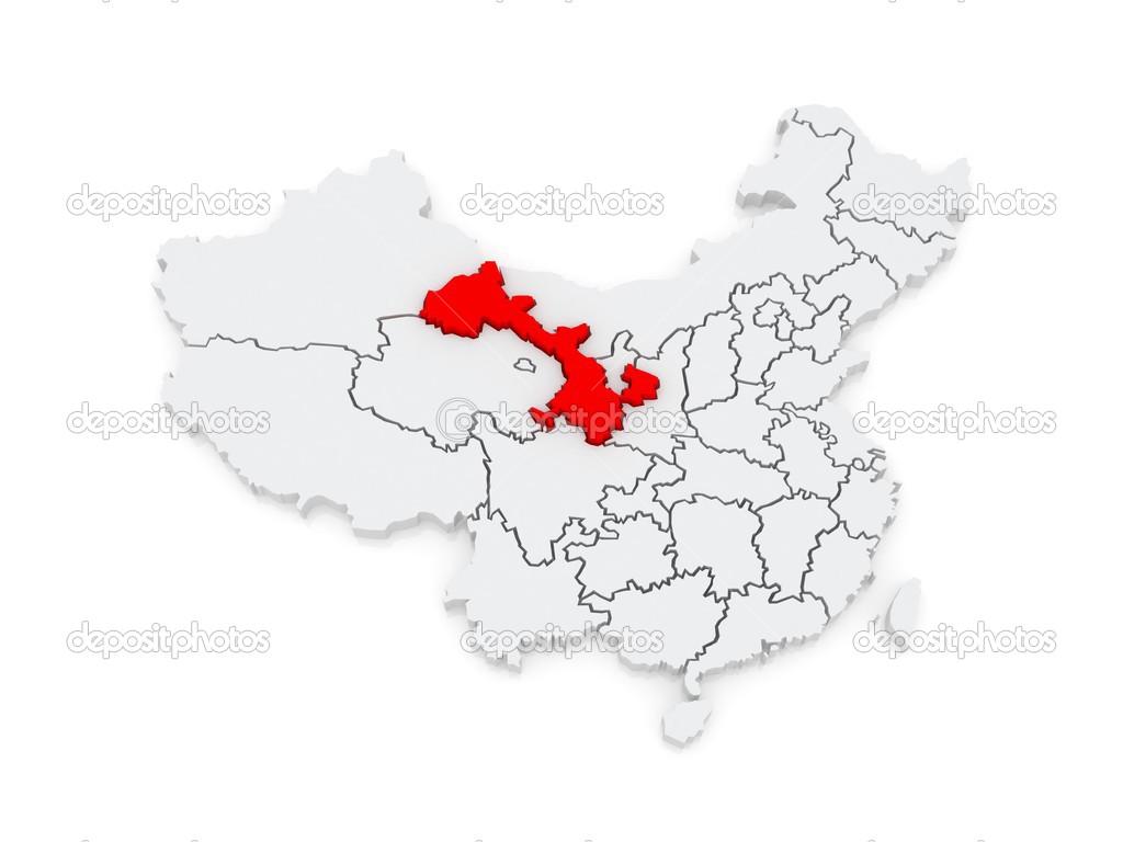 Gansu China Map.Map Of Gansu China Stock Photo C Tatiana53 48699333