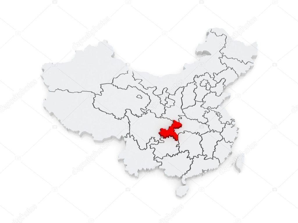 Map of Chongqing. China. — Stock Photo © Tatiana53 #48699355 Chongqing China Map on