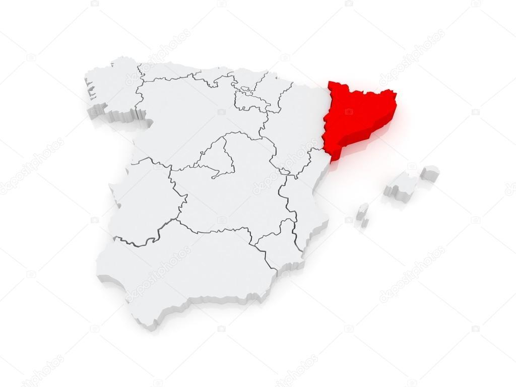 Spanien Katalonien Karte.Karte Von Katalonien Spanien Stockfoto Tatiana53 48726809