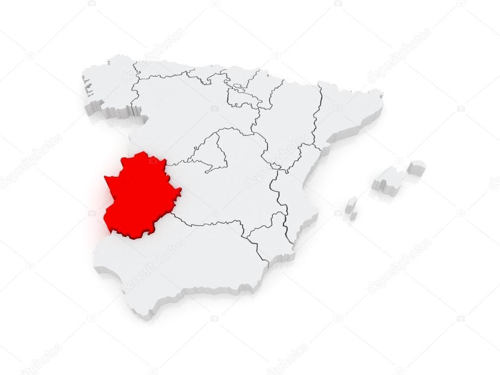 Estremadure Espagne Carte.Carte De L Estremadure Espagne Photographie Tatiana53