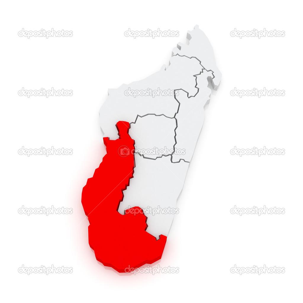Map of Toliara. Madagascar. — Stock Photo © Tatiana53 #48762657