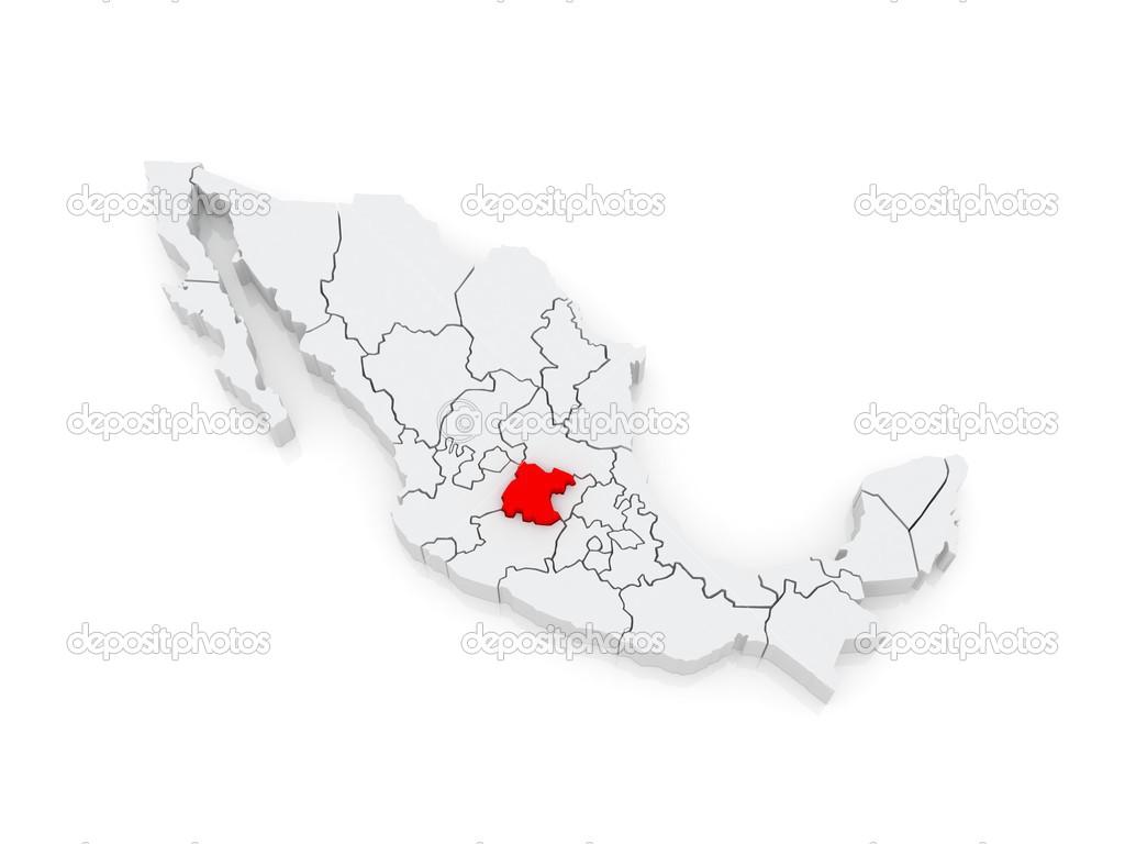 Mexico Map Guanajuato.Map Of Guanajuato Mexico Stock Photo C Tatiana53 48813421