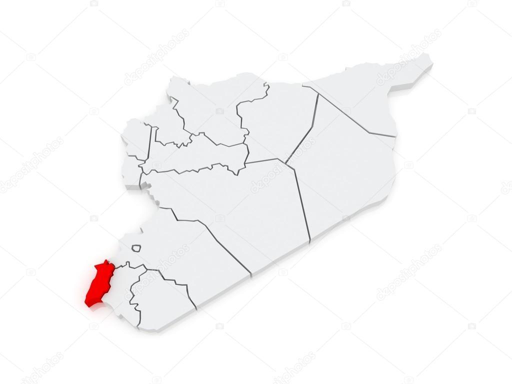 Map of Quneitra. Syria. — Stock Photo © Tatiana53 #49157729