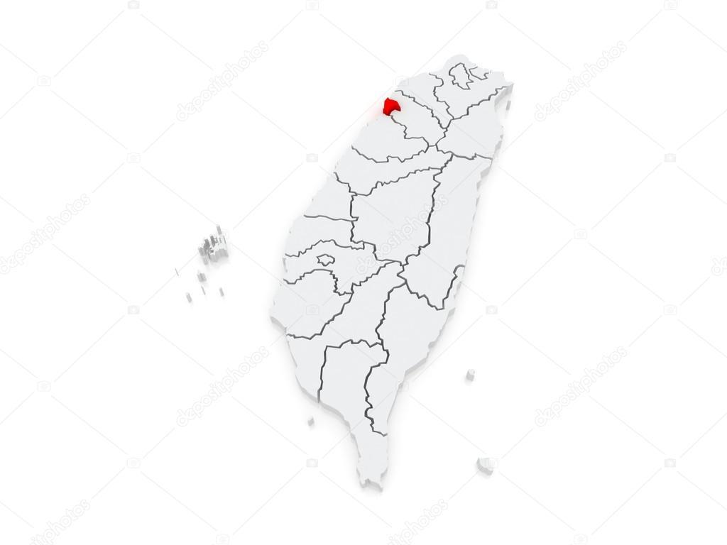 Map of Hsinchu City Taiwan Stock Photo Tatiana53 49200681