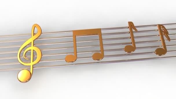 note musicali. 3D