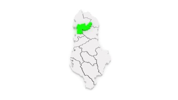 Map of regions Albania.