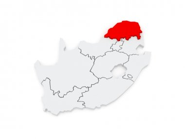 Map of Limpopo (Polokwane). South Africa.