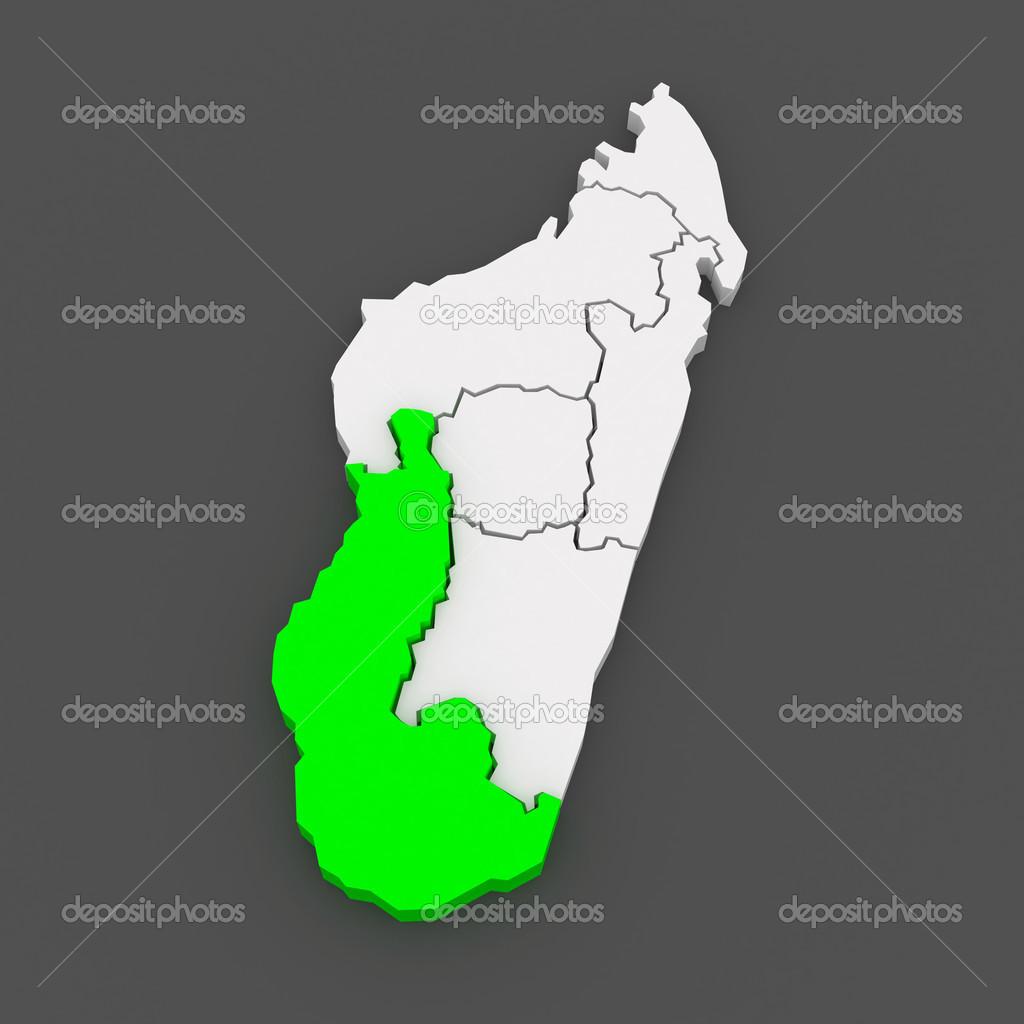 Map of Toliara. Madagascar. — Stock Photo © Tatiana53 #49590925
