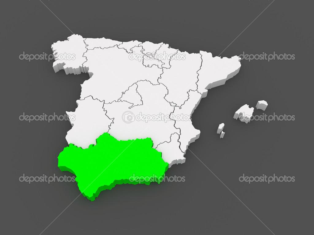 Karte Von Andalusien Spanien.Karte Von Andalusien Spanien Stockfoto Tatiana53 49592005