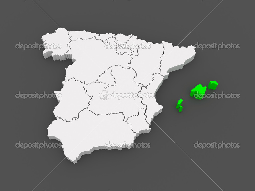 Karta Nordostra Spanien.Karta Over Baleariska Oarna Spanien Stockfotografi C Tatiana53