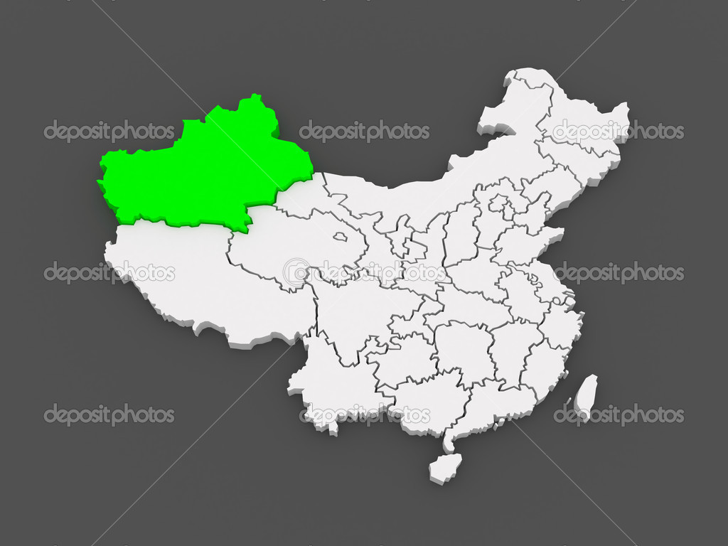 Map Xinjiang.Map Of Xinjiang Uygur China Stock Photo C Tatiana53 49595419
