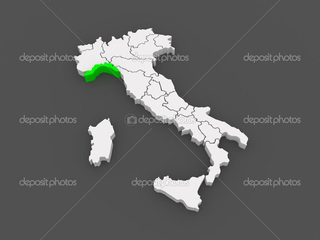 Carte Italie Ligurie.Carte De La Ligurie Italie Photographie Tatiana53 C 49597041