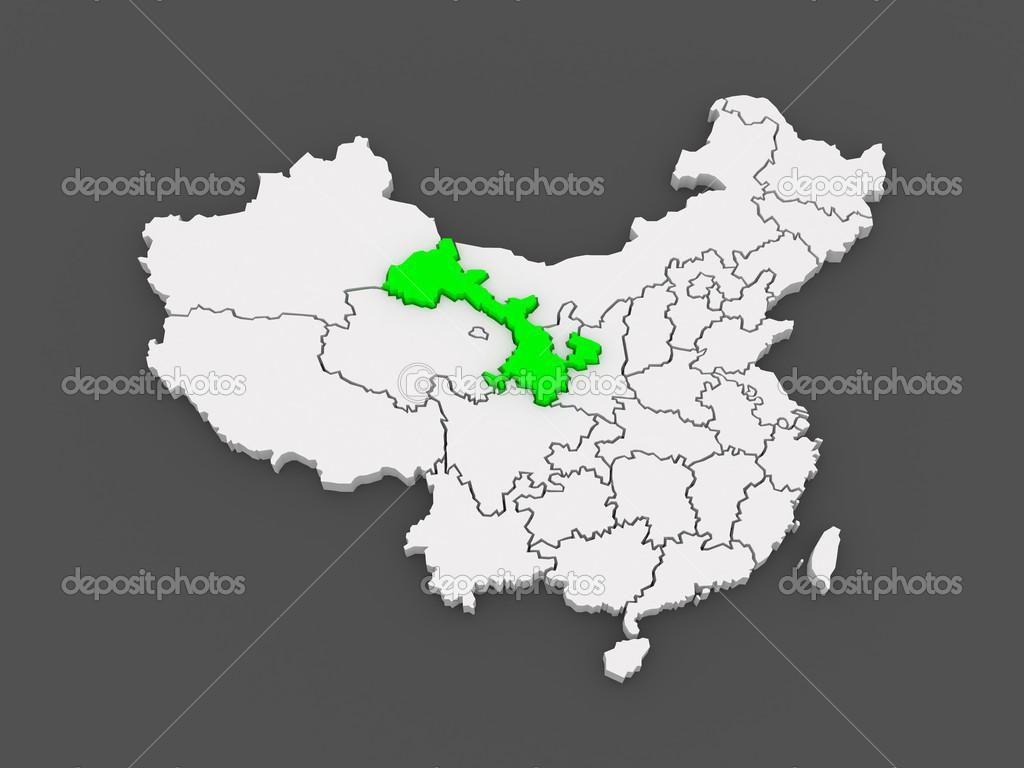 Gansu China Map.Map Of Gansu China Stock Photo C Tatiana53 49598131