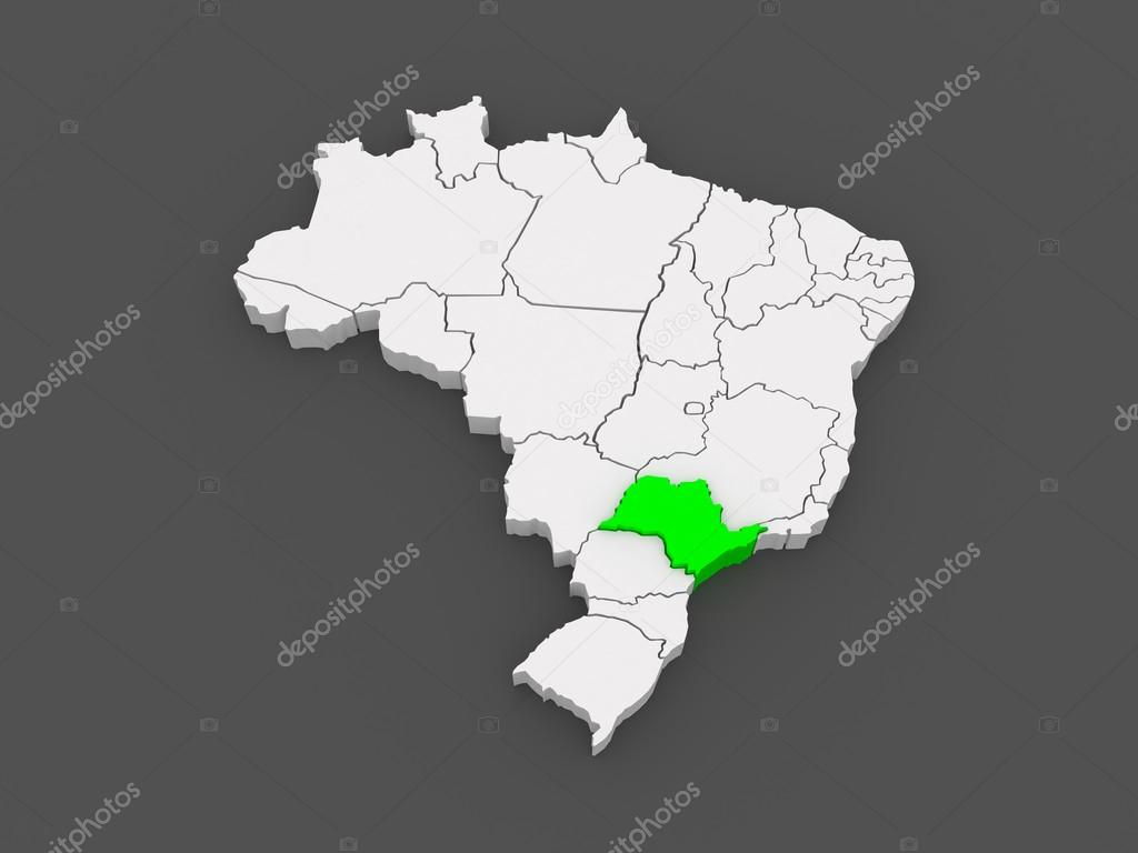 Map of Sao Paulo. Brazil. — Stock Photo © Tatiana53 #49598343