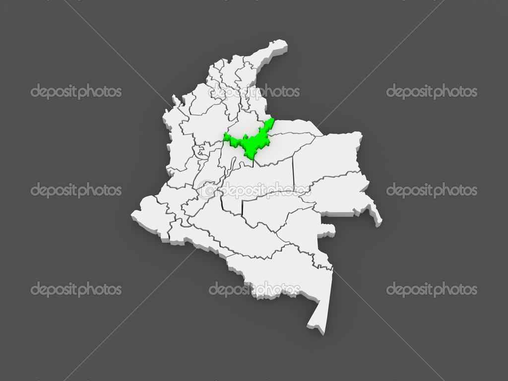 ボヤカ県の地図コロンビア — ス...