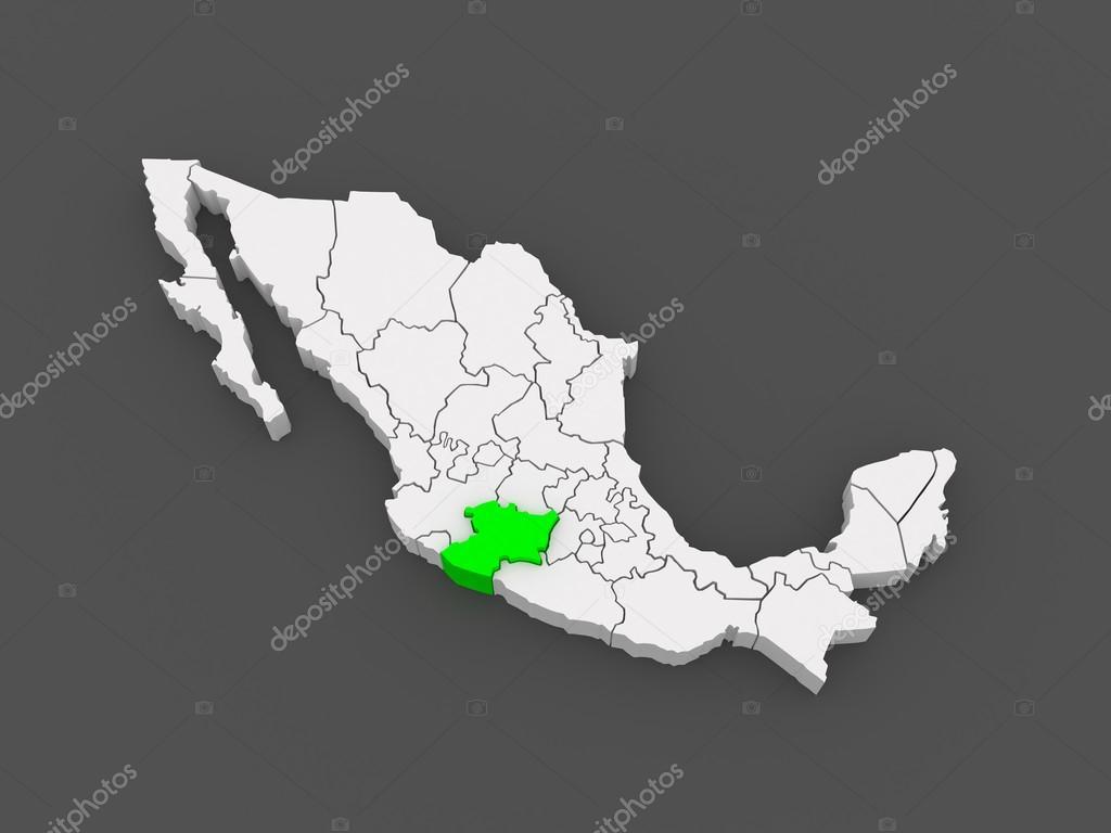 Map of Michoacan. Mexico. — Stock Photo © Tatiana53 #49602285