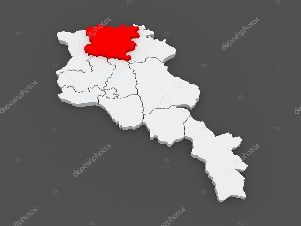 Map of Lori Armenia Stock Photo Tatiana53 49690501