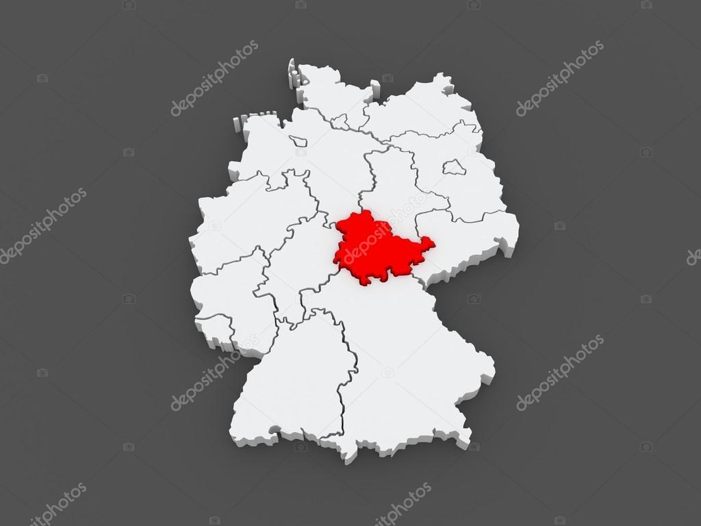 Carte Allemagne Thuringe.Carte De Thuringe Allemagne Photographie Tatiana53 C 49705115