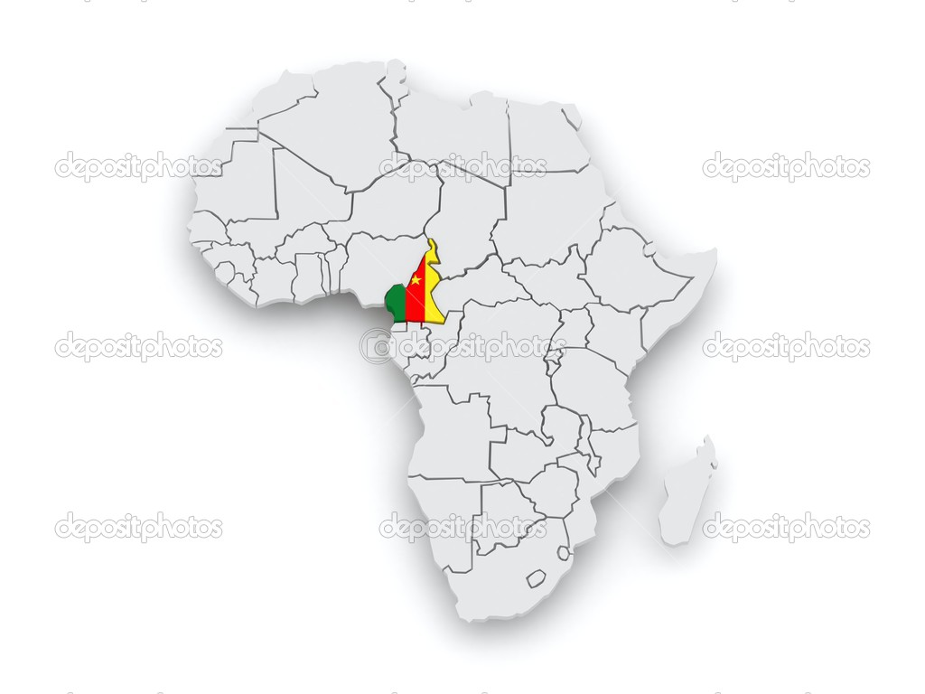 Map of worlds cameroon stock photo tatiana53 50777097 map of worlds cameroon 3d photo by tatiana53 ccuart Image collections
