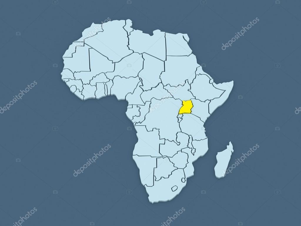 Map of worlds. Uganda. — Stock Photo © Tatiana53 #51255341
