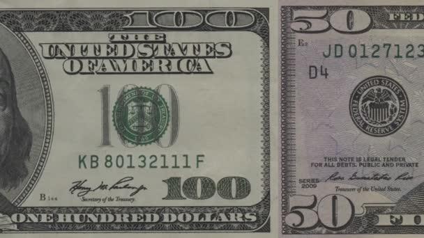 americké peníze v pohybu