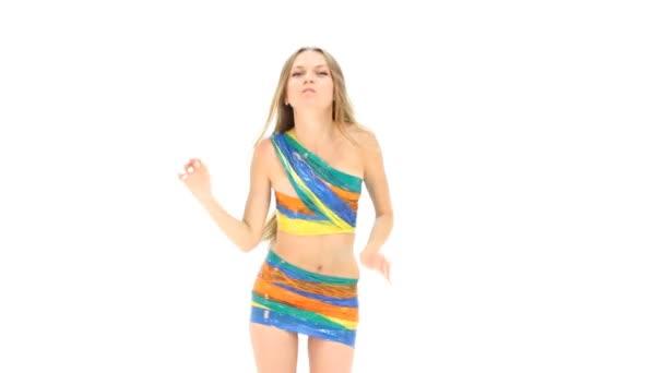 mladá sexy žena tanec