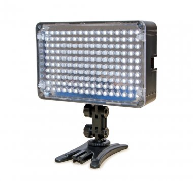 Video lighting LED, isolated on white background