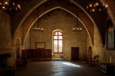Dark old room in Poblet cloister