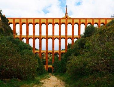 Aqueduct named El Puente del Aguila in Nerja, Andalusia, Spain
