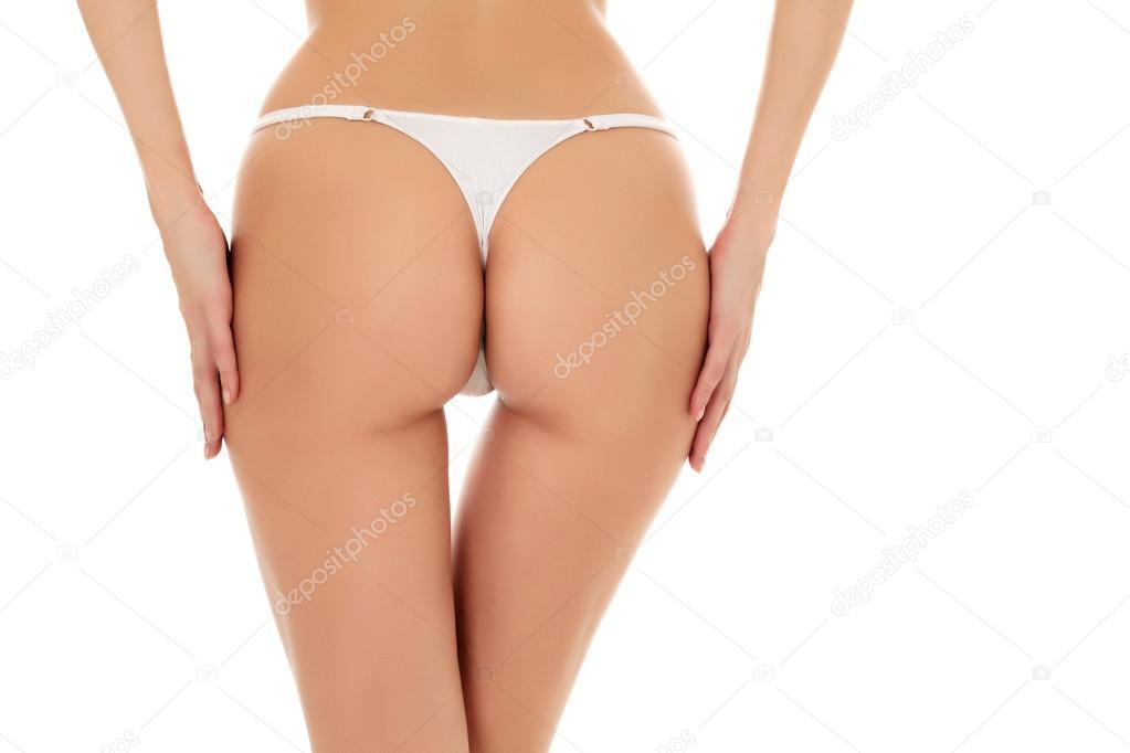 Female butt, white background — Stock Photo
