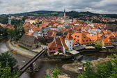 Pohled na Český Krumlov, Česká republika.