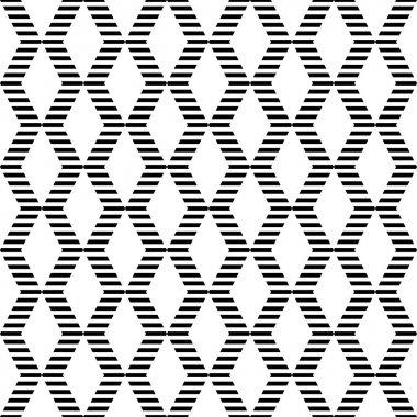 Seamless geometric zigzags and diamonds pattern.