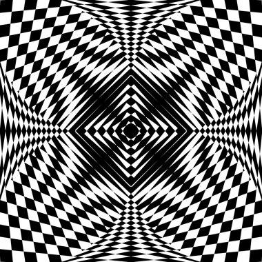 Abstract pattern in op art design.