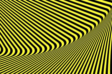 Abstract textured striped op art background.