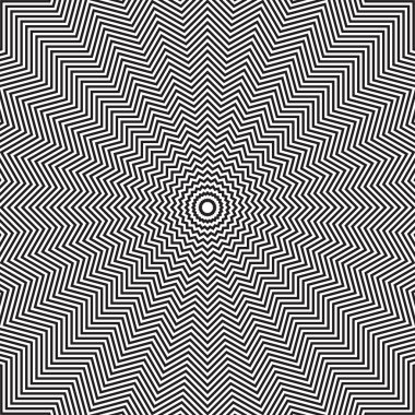 Optical illusion of rotation movement.