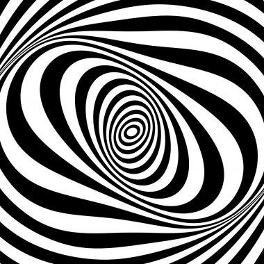Whirl movement illusion. Op art design. .