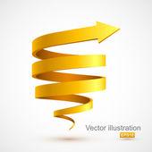 Fotografia freccia gialla spirale 3d