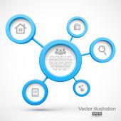 abstraktní sítě s kruhy 3d