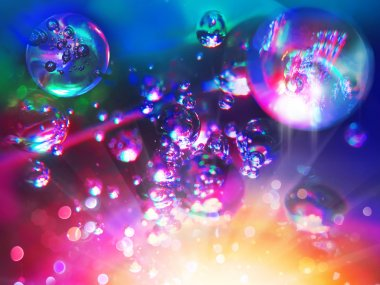 abstract background from bubbles on water