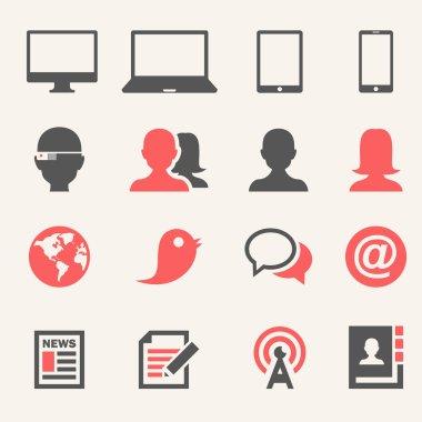 Gadgets. Icon set