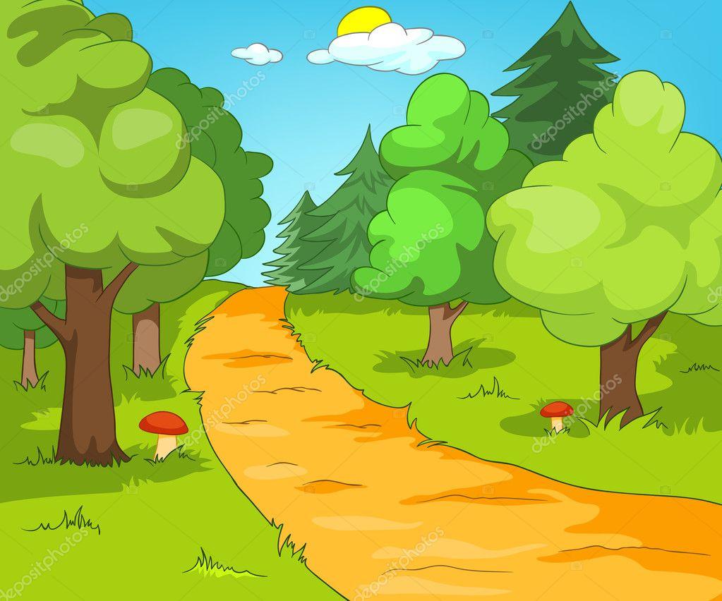 Radura della foresta — vettoriali stock rastudio