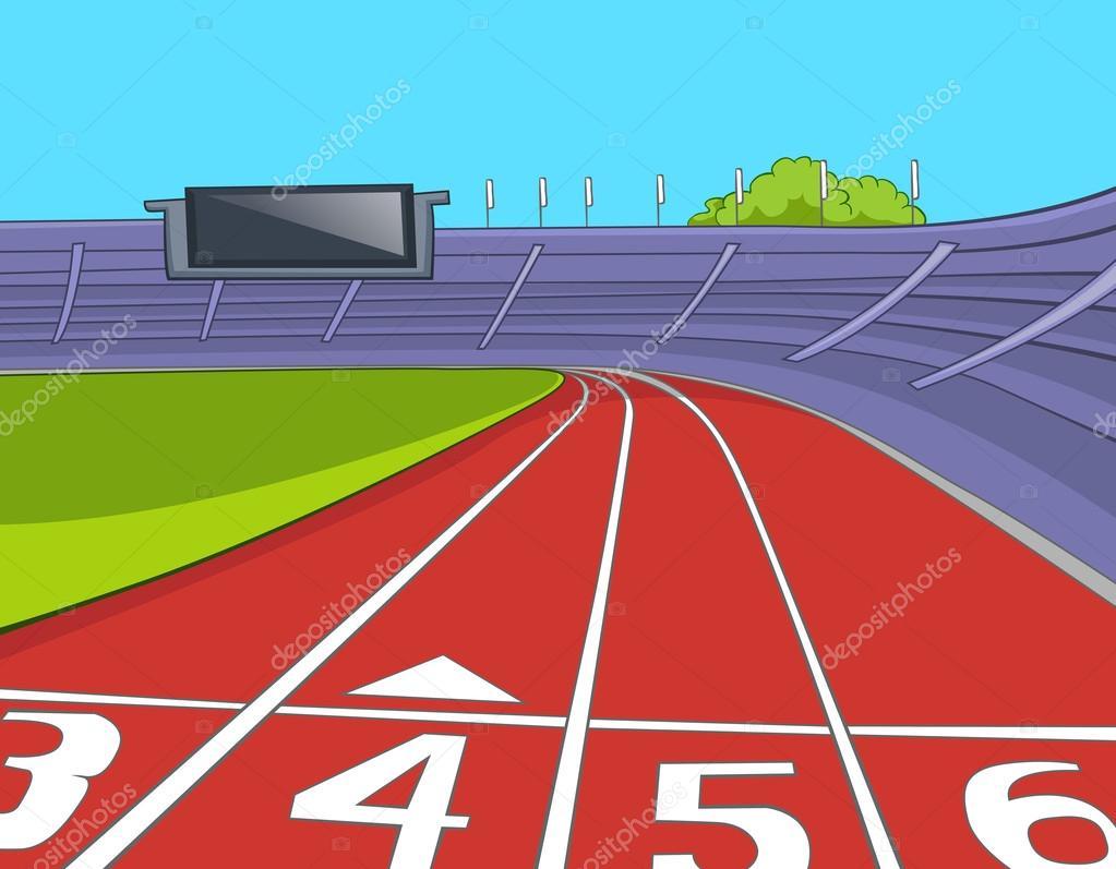 American Football Stadium. Cartoon Background. Vector Illustration EPS 10. stock vector