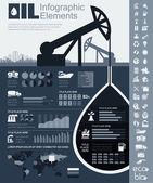 Fotografia modello di olio industria infografica