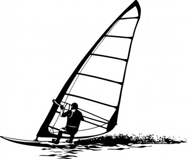 Silhouette of the windsurfer